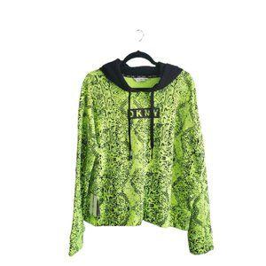 DKNY Sport Snakeskin Print Pullover Hoodie Sweatshirt